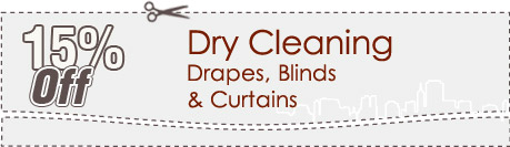 Cleaning Coupons | 15% off drapes, blinds and curtains | Carpet Cleaning Connecticut